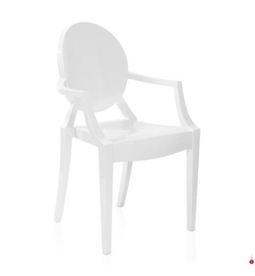Stuhl Kartell Louis Ghost - Weiss - Stühle und Barhocker - Kartell ...